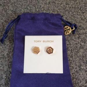 NIBAG Tory Burch studded earrings with dust bag